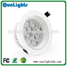 12W led ceiling lights aluminum white shell 220V led bedroom decorative ceiling light