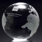 Crystal Globe with Flat Bottom glass ball paperweight