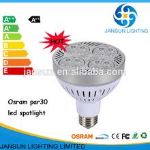 hot sale 30w Aluminum PC E27 osram cool white PAR30 LED spotlight