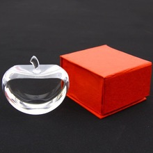 Christmas crystal gifts crystal blank apple accept 3d laser engraved caving words