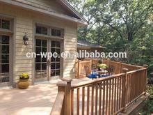 plastic outdoor deck flooring covering with wood grain