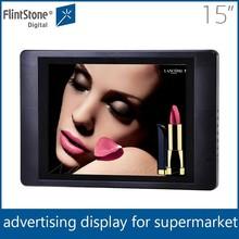 Flintstone 15 inch lcd led advertising board advertising led display video screen pos display