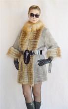 2014 new style haute qualité lady 's vison morceau de fourrure de renard callor