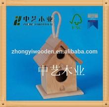 2014 new design unfinished handmade cheap hanging decorative antique outdoor wooden bird house,wooden bird cage