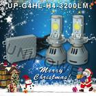 2X 35W 3200LM motorcycle led headlight, 6000K led motorcycle headlight bulb H7 Replace Halogen Bulb