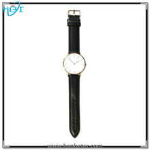 Best price fashion slim watch steel case CE/ROHS passed wholesale leather watch
