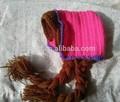 Mode main Frozen enfants bonnet d'hiver, Bande dessinée crochet Frozen elsa chapeau