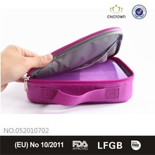Transparent colorful pp lunch box with cooler bag