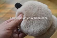Rabbit Fur Ear Muffs Winter Ear Warmer plush hat animal ears