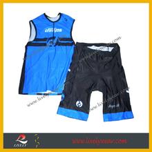 OEM Sublimation Lycra Spandex Compression Triathlon 2 pieces tri suit tri top and short