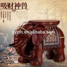 home decoration items arts and craft beautiful elephant figurines footstool