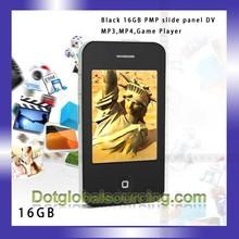 2.8 inch White/Black 16GB touch screen digital mp4 player camera FM Record Game