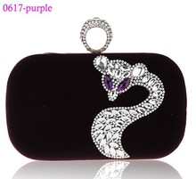 0617-purple Fancy design clutch bag