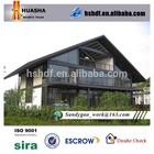 Modern luxury double slope light steel cement prefab houses