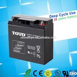 dry battery rechargable 12V 18AH energy storage battery for Solar system