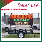 Alibaba Express mobile led display trailer