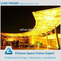 Prefab light steel outdoor metal roof canopy