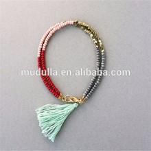 DB200Boho Bracelet ,Boho Bohemian Bracelet . Bead Tassel Boho Bracelet