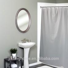 Custom Shower Curtain Liners / Durable Reinforced Mesh Header Clear Vinyl Mesh Shower Curtain