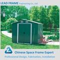 casa verde di metallo ambientale struttura in acciaio casetta da giardino