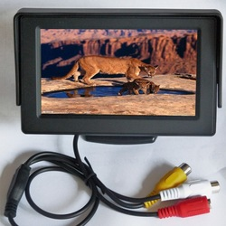 wide screen 4.3 inch tft car monitor with AV input