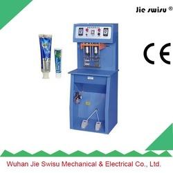 Date prnting manual plastic cosmetic tube sealing machine