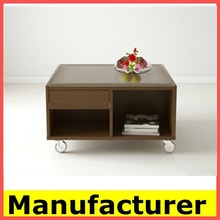 hot sale high quality stell and solid wood coffee table price