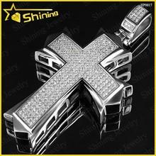 Shining white CZ brass jewelry pendant jewelry micro pave aaa cubic zirconia