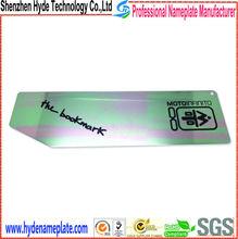 custom waterproof silver metal bookmark nameplates for books