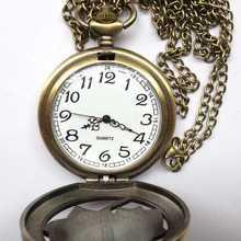 new design bike retro charm pocket pendant chain necklace watch mechanical watch mechanism