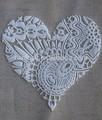 De la moda moderna hinchada en forma de corazón lienzo de arte para decoración de la habitación/de bricolaje de la pared arte lienzo sobre bastidor para la casa