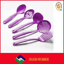 2015 new product new design purple Nylon Cooking Tool Sets,wholesale FDA standard kitchen utensil