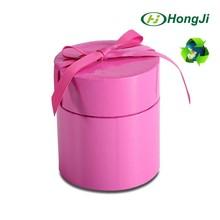 Various Sizes Glossy Pink Roud Cardbord Gift Box With Ribbon