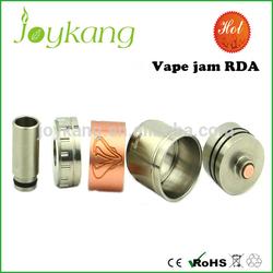 Factory price adjustable airflow ss/gold/black big vapor rda vape jam