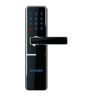 RHM325 RFID smart card digital Hotel door handle locks/electronic panel door lock bluetooth 4.0 hotel smart lock
