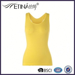 Latest TOP Sale! Seamless Knitted 92 nylon 8 spandex tank tops