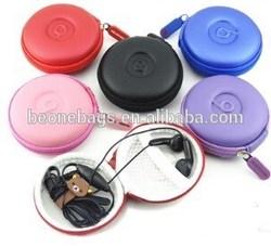 China Factory Price Waterproof Round USB Line Earphone Small Storage Bag