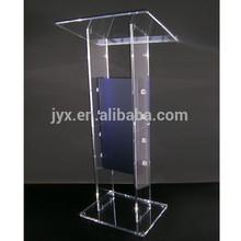 Modern design clear custom perspex church podium/pulpit