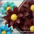 flor de resina 30mm resina flor da decoração da parede