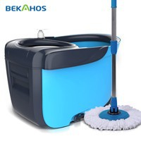 PP,stainless steel Mop Head Material and Extensible Handle Type Deluxe spin go magic mop
