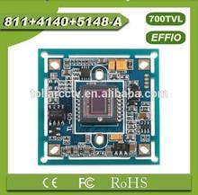 Best Selling Product Sony effio 1/3 700tvl CCD Board Camera 811+4140 with OSD menu cctv board camera pcb