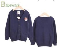 De punto suéteres de lana de diseño para niños de los niños de ropa infantil venta al por mayor de punto de la rebeca del suéter de marca suéter de lana