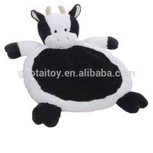 Baby super soft plush cow animal shaped play mats