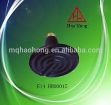 Bakelite black E14 special lamp cap