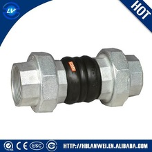 Double sphere screwed rubber expansion joint from China