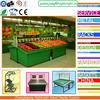 supermarket vegetable and fruit rack display shelf