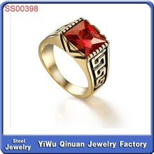 Wholesale global popular hot design brand stainless steel class ring