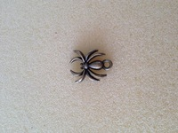 vintage brass metal spider charms animal charms for necklace jewelry