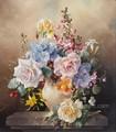 Fleur d'orchidée peinture sur toile image de mur pour la décoration maison