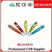 Pen-shaped USB Flash Drive, 64M-16GB Capacity, Supports USB1.1/2.0,pen usb flash drive 1gb
